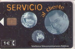 TARJETA TELEFONICA DE ESPAÑA NUEVA.CON BLISTER, MINT 02.02 - TIRADA 152500 (479). SERVICIO AL CLIENTE. - Spain