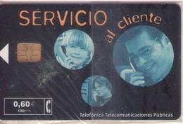 TARJETA TELEFONICA DE ESPAÑA NUEVA.CON BLISTER, MINT 07.01 - TIRADA 123000 (480). SERVICIO AL CLIENTE. - Spain