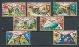 Equatorial Guinea 1974 UPU Anniversary Transport Set 7 FU - Post