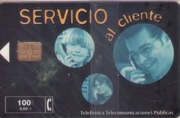 TARJETA TELEFONICA DE ESPAÑA NUEVA.CON BLISTER, MINT 02.01 - TIRADA 53000 (481). SERVICIO AL CLIENTE. - Spain