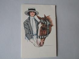 Dame Met Paard. - Nanni