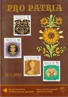Switzerland / 1992 / Pro Patria / Art / Philatelic Postage Stamps Prospectus, Leaflet, Brochure - Fachliteratur