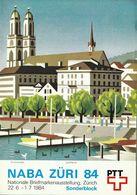 Switzerland / 1984 / NABA Zurich / Philatelic Postage Stamps Prospectus, Leaflet, Brochure - Sonstige