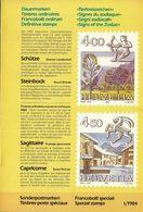 Switzerland / 1984 / Zodiac / Philatelic Postage Stamps Prospectus, Leaflet, Brochure - Fachliteratur