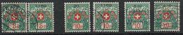 SVIZZERA - HELVETIA - (Vedere Fotografia) (See Photo) FRANCHIGIA 6 Stamps - Franchigia