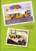Switzerland / 1987 / Post Cars / Philatelic Postage Stamps Prospectus, Leaflet, Brochure - Fachliteratur