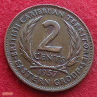 British Caribbean Territories 2 Cents 1957 KM# 3 Caraibas Caraibes Orientales - East Caribbean States