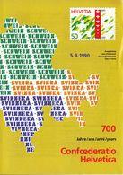 Switzerland / 1990 / Swiss Confederation / Philatelic Postage Stamps Prospectus, Leaflet, Brochure - Letteratura