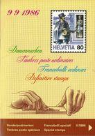 Switzerland / 1986 / Definitive / Philatelic Postage Stamps Prospectus, Leaflet, Brochure - Sonstige