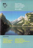 Switzerland / 1993 / Definitive / Mountain Lakes / Philatelic Postage Stamps Prospectus, Leaflet, Brochure - Fachliteratur