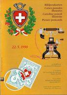 Switzerland / 1990 / PTT Museum / Philatelic Postage Stamps Prospectus, Leaflet, Brochure - Fachliteratur