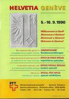 Switzerland / 1990 / Helvetia Geneve / Philatelic Postage Stamps Prospectus, Leaflet, Brochure - Sonstige
