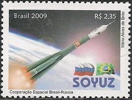 BRAZIL - BRAZIL-RUSSIA SPACE COOPERATION, SOYUZ 2009 - MNH - Space