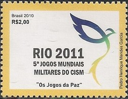 BRAZIL - 5th WORLD MILITARY GAMES (RIO 2011) 2010 - MNH - Stamps