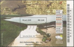 BRAZIL - SS PARANAÍBA RIVER HYDRICAL RESOURCES 2009 - MNH - Water