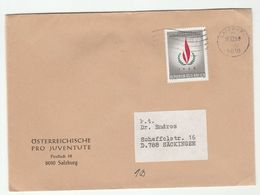 1968 Osterreichische Pro Juventute COVER Salzburg AUSTRIA  Stamps UN United Nations - 1945-.... 2nd Republic