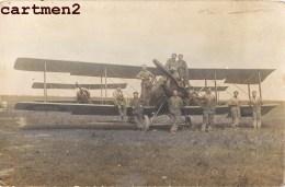 CARTE PHOTO : VAUX MEUSE ? AVIATION MILITAIRE ESCADRILLE AEROPLANE BIPLAN JUILLET 1919 AVION VERDUN AERODOME GUERRE - 1914-1918: 1ère Guerre