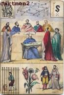 CURIEUSE CARTE A JOUER ASTRONOMIE ? DIVINATION ? TAROT JEU DE CARTES AQUARELLE GOUACHE - Carte Da Gioco