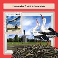 Djibouti 2017 Windmills And Water Birds - Djibouti (1977-...)
