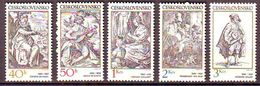 Czechoslovkia 1982 Engravings With A Music Theme Mnh - Czechoslovakia