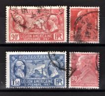 FRANCE 1927 - LOT 4 TP  Y.T. N° 243 X 2 NUANCES / 244 / 245  - OBLITERES - - Used Stamps