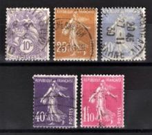 FRANCE 1926/1927 - Y.T. N° 233 / 235 / 236 / 237 / 238 - OBLITERES - - Used Stamps