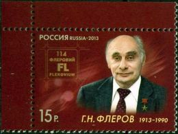 Russia, 2013, Mi. 1892, Birth Centenary Of G.N. Flerov, MNH - 1992-.... Federation