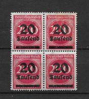 LOTE 1667  ///   ALEMANIA IMPERIO  YVERT Nº: 258  BLOQ DE 4  CON MANCHAS DEL TIEMPO EN DORSO - Germany
