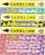UK Cardlink -Set Of 3  Phonecard - Code 1CLKA/E & 2CLKB - Fine Used - Ver. Königreich