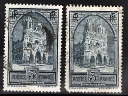 FRANCE 1929 - Y.T. N° 259 X 2 NUANCES   - OBLITERES - - Used Stamps