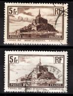 FRANCE 1929 - Y.T. N° 260 X 2 NUANCES   - OBLITERES - - Used Stamps