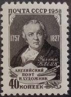 Russia, USSR, 1958, Mi. 2060, Sc. 2037, William Blake, MNH - Unused Stamps