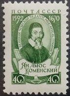 Russia, USSR, 1958, Mi. 2070, Sc. 2059, Jan Komensky, MNH - Unused Stamps