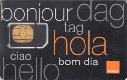 DMR-GSM : OR01 ORANGE Bonjour Dag Tag Hola Ciao Bom Dia MINT - Dominicana