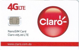 DMR-GSM : CL02 CLARO  4GLTE NanoSIM Card V05.00LTE MINT - Dominicana