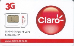 DMR-GSM : CL01 CLARO  3G SIM Y MicroSIM Card V02.02 MINT - Dominicana