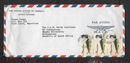 Mauritius, Air Mail Cover R3 (3 X R1Dolfin Dorade) PORT LOUIS 24 SP 75 C.d.s. > S.Africa - Mauritius (...-1967)