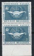 Belgium 1958 3f  UN Pavillion Issue  #521  MNH Pair - Belgium