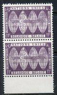 Belgium 1958 11f WHO Issue  #524  MNH Pair - Belgique