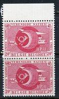 Belgium 1958 20f UPU Issue  #525  MNH Pair - Belgium