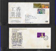 Hong Kong FDC Queen Mother 80th B'day TSIM SHA TSUI  C.d.s., FDC Hong Kong Industries HONG KONG C.d.s. - Hong Kong (...-1997)