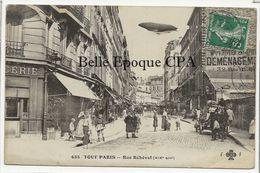 75 - TOUT PARIS 19 (noir) - #435 - Rue Réhéval ++++ Coll. F. Fleury ++++ RARE / ZEPPELIN - Arrondissement: 19