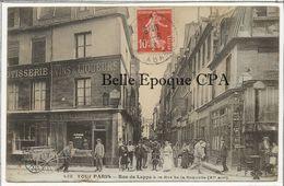 75 - TOUT PARIS 11 (noir) - #438 - Rue De Lappe à La Rue De La Roquette +++ Coll. F. Fleury +++ To DENMARK, 1913 ++ RARE - Arrondissement: 11