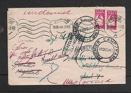 S.A.frica WWII, 2d. JOHANNESBURG > PREMIER CAMP > PRETORIA; Unreadable (rev)  Boxed Cachet UNCLAIMED, - South Africa (...-1961)