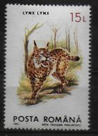 ROUMANIE     N° 4089  * *  Lynx - Big Cats (cats Of Prey)