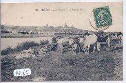 JOIGNY- LE PONT AUX BOIS- LOURD ATTELAGE  DE TRONCS TIRE PAR DES BOEUFS - Joigny