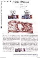 """"""" FRANCE - MONACO INSTITUT DE PALEONTOLOGIE """" Sur Document Philatélique Officielle De 2010. N° YT 4456 + TIMB DE MONACO - 2010-...."""