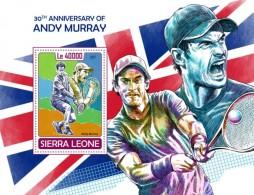 Sierra Leone 2017 Tennis Andy Murray  S2017-12 - Sierra Leone (1961-...)