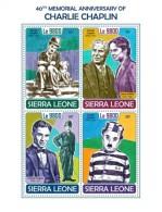 Sierra Leone 2017 Charlie Chaplin S2017-12 - Sierra Leone (1961-...)