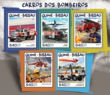 Guinea Bissau 2017 Fire Engines S2017-12 - Guinea-Bissau